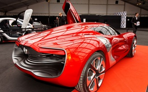 Картинка concept, Renault, red, supercar, sports car, electric cars, Renault DeZir