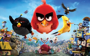 Картинка Red, game, birds, film, animated, angry, Angry Birds, animated movie, Bomb, Chuck, Terence, AB