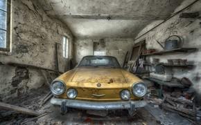 Обои лом, гараж, машина