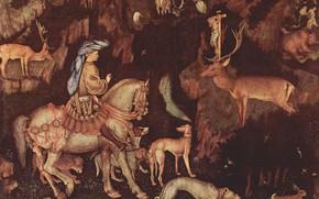 Картинка Antonio Pisanello, Eustacio, с. 1438-1442., Vision-de-San, Видение Святого Евстафия