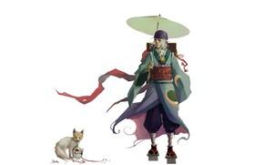 Картинка аниме, арт, парень, mononoke