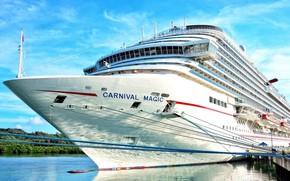 Картинка корабль, пристань, лайнер