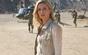Обои cinema, film, helicopter, Mummy, soldier, movie, Annabelle Wallace, Annabelle Wallis
