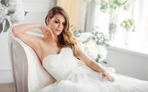 Картинка девушка, платье, невеста