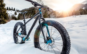 Картинка bike, snow, cold
