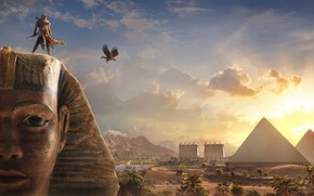 Картинка Origins, Ubisoft, Assassin's Creed, DLC, Assassin's Creed: Origins, Bayek and the Sphinx