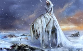 Картинка Mane, Woman Wallpaper, Horse Background