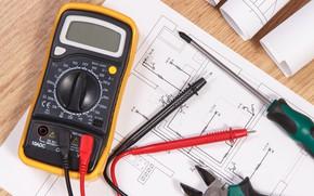Картинка electricity, plans, tester