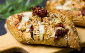 Картинка еда, сыр, хлеб, выпечка, кунжут