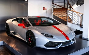 Картинка Lamborghini, Pavilion, Silver, Huracan