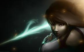 Картинка взгляд, аниме, арт, Мастера меча онлайн, Sword Art Online, Асуна