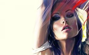 Обои оливия уайлд, актриса, olivia wilde, artwork, арт