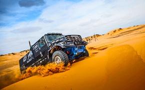 Картинка Песок, Черный, Мастер, Kamaz, Rally, Dakar, Камаз, Дюна, Капотник