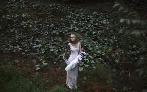 Картинка девушка, крылья, Swan Lake, Aleah Michele