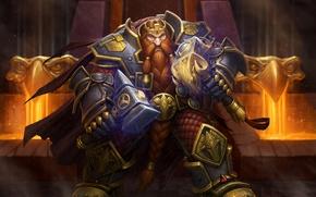 Картинка World of Warcraft, Warcraft, wow, dwarf, King Magni, Magni Bronzebeard