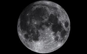 Обои спутник, поверхность, луна