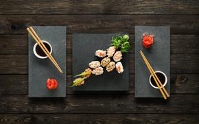 Картинка палочки, соус, sushi, суши, роллы, имбирь, set, вассаби, japanese food