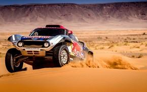 Картинка Песок, Авто, Mini, Спорт, Пустыня, Скорость, Rally, Dakar, Дакар, Ралли, Дюна, Buggy, Багги, X-Raid Team, …