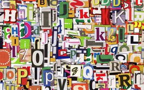 Обои алфавит, слой, краски, буква