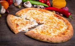 Картинка сыр, овощи, пицца