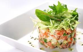 Картинка рыба, икра, салат
