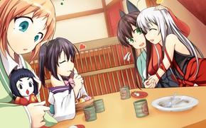 Картинка kawaii, girl, anime, food, funny, asian, cute, doll, witch, japanese, kimono, oriental, asiatic, sugoi, deredere, …