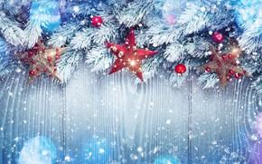 Обои Xmas, Новый Год, snow, снег, зима, Merry Christmas, украшения, happy, Рождество, елка, New Year, Christmas, ...