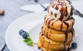 Картинка мороженое, десерт, оладьи