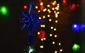 Картинка фон, праздник, новый год, звездочка