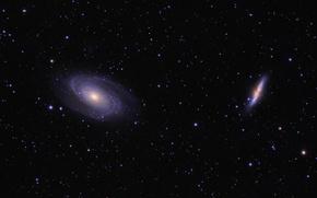 Обои космос, звезды, Галактика Сигара, Галактика Боде