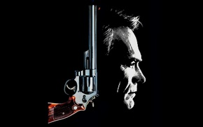 Обои Clint Eastwood, revolver, Harry Callahan, The Dead Pool, Smith & Wesson, classic, face, 1988, weapon, ...