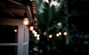 Обои лампы, дом, фон