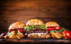 Картинка мясо, овощи, булочки, бургеры