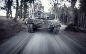 Картинка скорость, немецкий, основной, боевой танк, Leopard 2