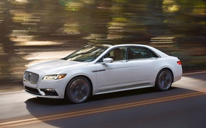 Картинка дорога, скорость, Lincoln Continental