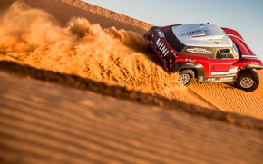 Картинка Песок, Mini, Спорт, Пустыня, Скорость, Rally, Dakar, Дакар, Ралли, Дюна, Buggy, Багги, X-Raid Team, MINI ...