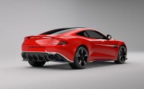 Картинка car, Aston Martin, red, logo, wings, Arrow, Aston Martin Vanquish S Red Arrows Edition