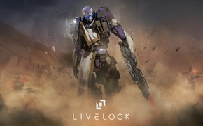 Картинка gun, game, armor, weapon, rifle, suit, PS4, Livelock