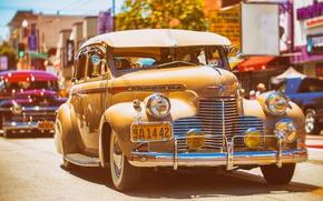 Картинка авто, ретро, улица, классика