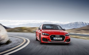 Обои German, Red, 2018, Drive, A5, Road, Speed, RS, Audi, RS5