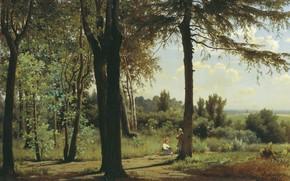 Картинка пейзаж, картина, Владимир Аммон, На Опушке Леса