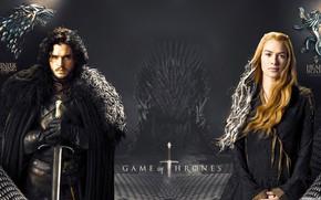 Обои персонажи, постер, Игра Престолов, актёры, Game of Thrones