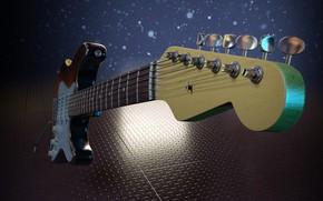Обои гриф, электрогитара, струны, гитара
