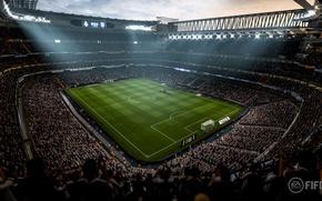Обои stadium, sport, Fifa 18, arena, grass, crowd, Fifa, fans, soccer