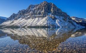Картинка горы, озеро, отражение, гора