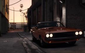 Картинка город, фары, тачка, автомобиль, Grand Theft Auto V