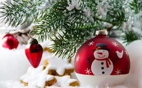Картинка праздник, игрушки, елка, новый год