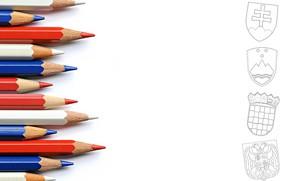 Обои фон, цвет, карандаши