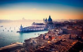 Картинка вода, город, здания, Италия, Венеция, канал