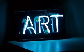 Картинка свет, надпись, лампа, трубка, неон, подсветка, арт, art, neon, neon lights, неоновая подсветка, неоновая вывеска